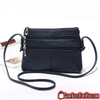 High-Quality Leather Pillow Sized Double Zipped Women's Crossbody Shoulder Bag