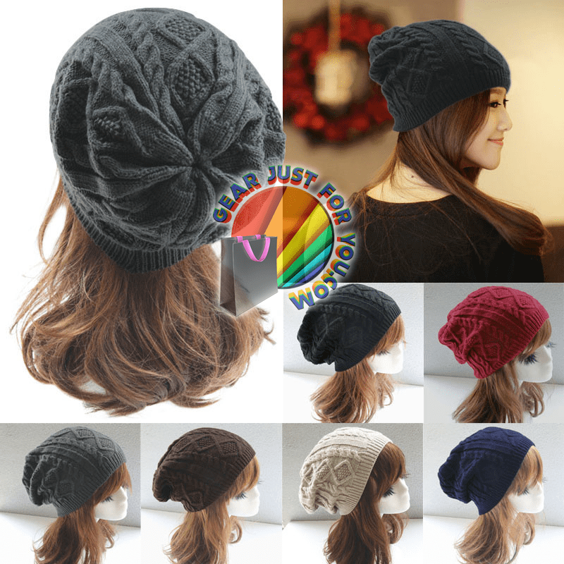 753f5ef33 Amazing Twisted Whirl Pattern Women's Cotton Knitted Casual Winter Beanie  Hat