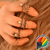 Unique Tribal Design Anillos Crystal Knuckles Bohemian 10Pcs Ring Set - Gear Just For You.com