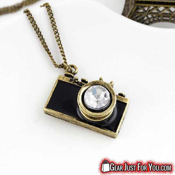 Vintage antique camera design colorful long chain pendant necklace vintage antique camera design colorful long chain pendant necklace mozeypictures Image collections