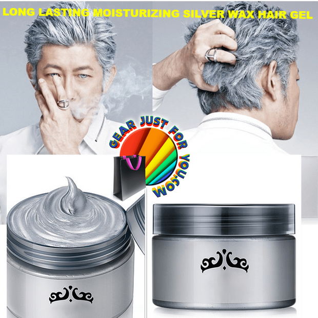 Amazing Fluffy Style Unisex Long Lasting Moisturizing Silver Wax Hair Gel 120mL - Gear Just For You.com