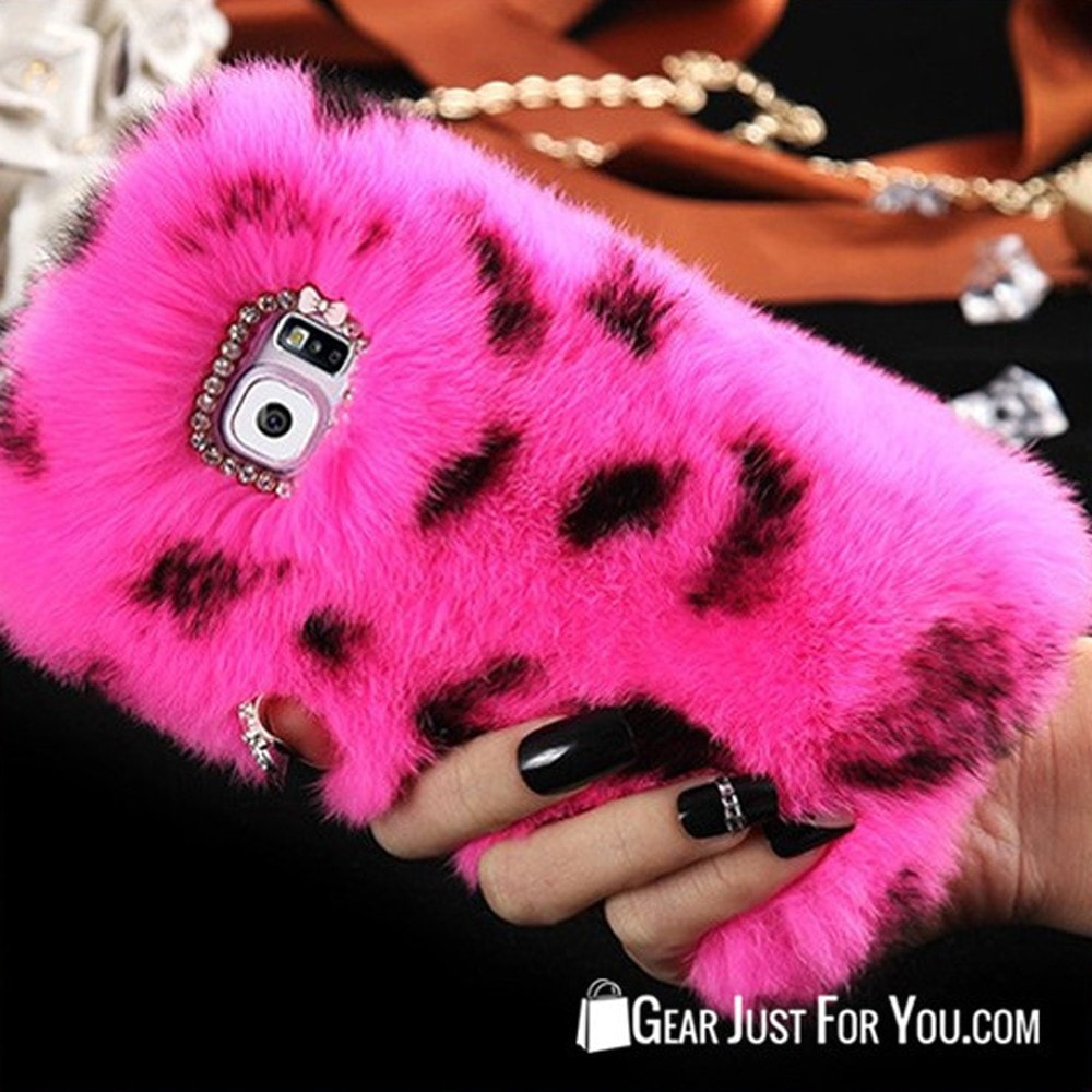 Fluffy Rabbit Hair Soft Case For Samsung Galaxy
