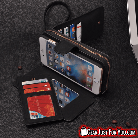 Most Stunning Design iPhone Luxury Leather Multifunction DETACHABLE Wallet Case + Strap - Gear Just For You.com