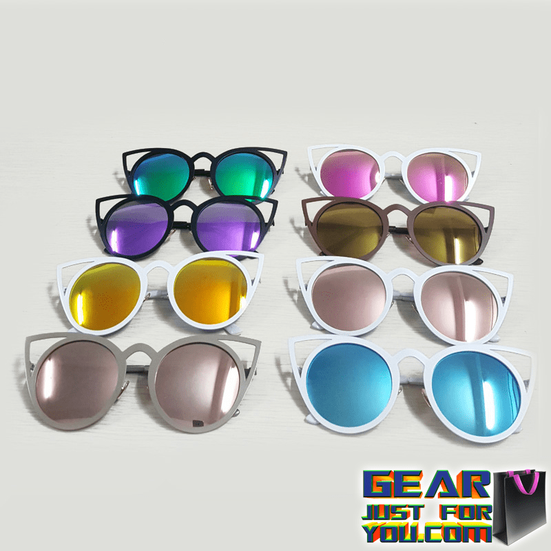 a62fe4a90e Exclusive Sexy UV Protected Vintage Cat s Eye Women s Metal Mirror Shade  Sunglasses