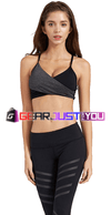Sexy Cross Stack Women's Push-Up Adjustable Cup Sling Sports Bra