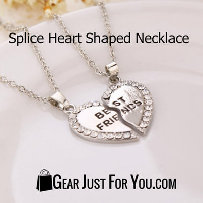Charming Splice Heart Pendant Best Friend Letter Necklace - Gear Just For You.com