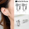 New Hot 925 Sterling Silver Jewelry White Gemstone Stud Hoop Earrings - Gear Just For You.com