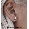 Too Cute Gold or Silver Bar Earrings - Gear Just For You.com