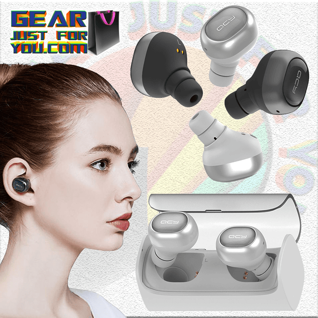 Hi-Fi Stereo Sound Noise Reduction Mini Twins Wireless Bluetooth Earphones