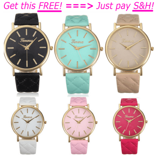 "SPECIAL Deal ""Geneva Roman Watch"" Lady Leather Quartz Dial Wrist Watch"