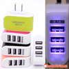 Portable 3-Port USB 3.1A Traveler Wall Charger US Plug Adapter with LED Light - Gear Just For You.com
