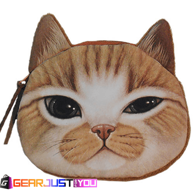 Amazing Cute Children Cat Face Zipper Makeup Pouch Canvas Case Bag - Gear Just For You.com