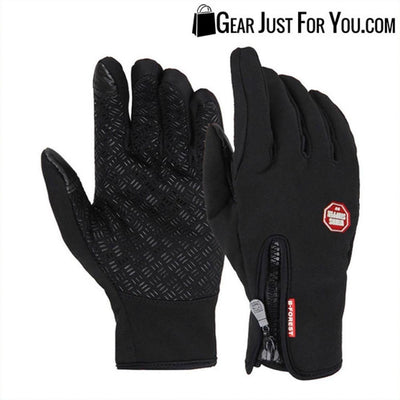 Unisex Touch Screen Cycling Warm Windproof Gloves Mittens Smartphone - Gear Just For You.com