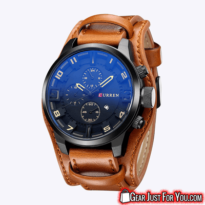 Gorgeous Classic Fashionable Long Lasting Analog Quartz Leather Watch