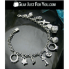 Hot Sale 925 Sterling Silver 13 Pendant Charms Bracelet