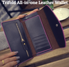 All-in-One Beautifully Textured Leather Clutch Wallet - Gear Just For You.com
