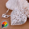 Cute Sand Flower Silver Plated Necklace