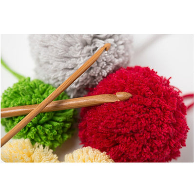 12 Piece Bamboo Handle Crochet Hook Knit Craft Knitting Needle Weave Yarn 3-10mm - Gear Just For You.com