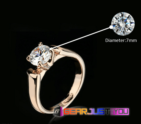 1.25 Carat Round Cut Cubic Zirconia Women's Wedding Ring