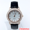 Geneva Luxury Diamond Analog Quartz Dial Pure Leather Band Wrist Watch
