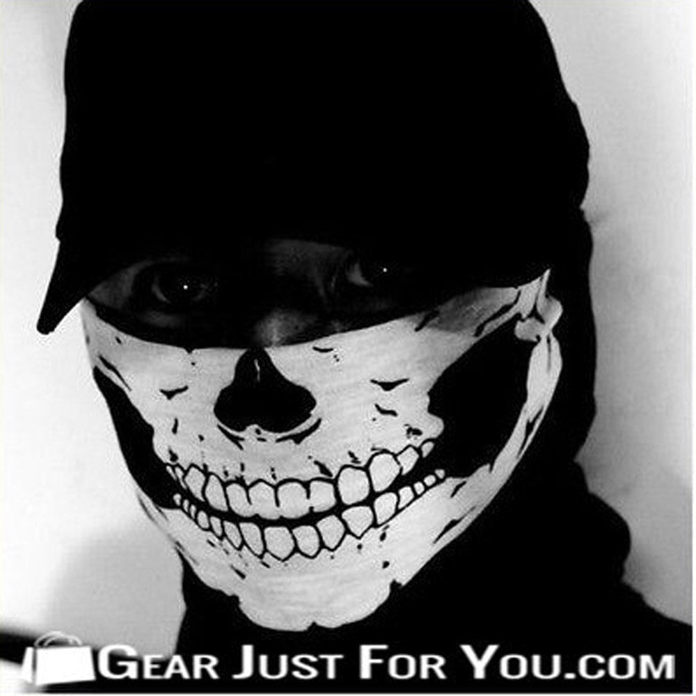 Ghost Skull Black Face Mask – Gear Just For You