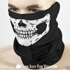 Ghost Skull Black Face Mask