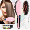 Electric Pro Automatic LCD Temperature Control Paddle Brush Hair Straightener