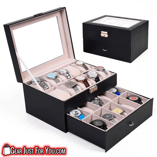 Beautiful Craft Smooth Opening Watch Display Storage Box - Gear Just For You.com