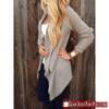 Most Stunning Crewneck Style Long Sleeve Knitted Loose Women's Cardigan Sweater - Gear Just For You.com