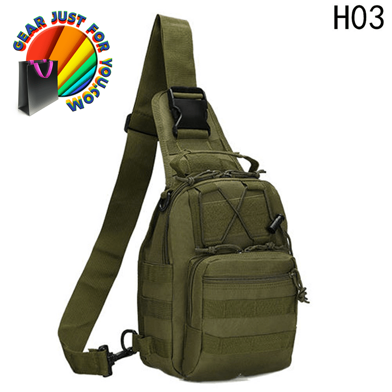 64bf240534 Long-Lasting Single Shoulder Strap Military Canvas Bag - GEAR JUST ...
