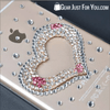 Perfect for Girls 3D Bling Crystal Diamond Heart Design Tuff Protected Case for iPhone 5/6/6plus - Gear Just For You.com