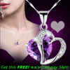 Image of Fashion Women Heart Crystal Rhinestone Silver Chain Pendant Necklace Jewelry