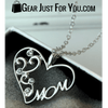 Hot Offer MOM's Crystal Heart Necklace Love Your Mom Everyday!