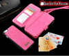 Image of Smart Design Genuine Multi-function Leather Zipper Wallet Card Case Cover For iPhone 5/5S/6/6S/7 Plus + Strap - Gear Just For You.com
