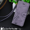 Image of Genuine Leather Flip Wallet Cover iPhone Case