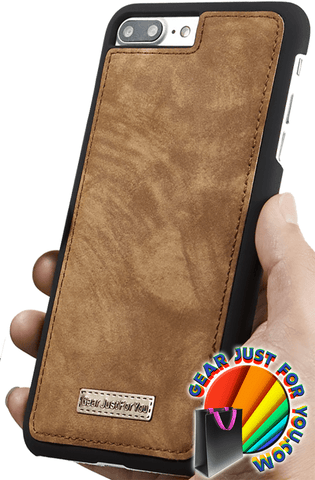 Ultimate Functional All-In-One Handmade TRIFOLD LEATHER Removable iPhone Wallet Elegant Finish Case Cover for iPhone