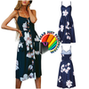 Bohemian Style Summer Backless Long Beach Party Dress