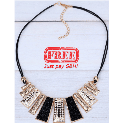 Image of Pendant Chain Crystal Choker Chunky bib Statement Necklace women Fashion Jewelry - Gear Just For You.com
