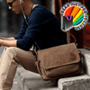 Luxury Vintage Leather Canvas Cross body Satchel Shoulder Bag - Gear Just For You.com