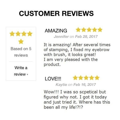 Stunning Perfect Eyebrow Save Time Quick Eyebrow Stamp Powder - 50% OFF