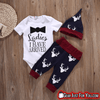 Lovely Newborn Unisex Baby Tops Romper Pants Hat 3 Pieces Set Outfit - Gear Just For You.com