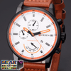Precise Multi-Dial Analog Quartz Movement Water Resist Leather Watch
