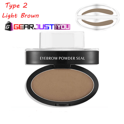 Natural Eyebrow Makeup Shadow Definition Women's Stamp Powder Palette - Gear Just For You.com
