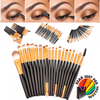 20 Pcs Fashionable Pro Women's Foundation Eyeshadow Eyeliner Lip Cosmetic Makeup Brushes - Gear Just For You.com