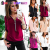 Casual Sexy V Neck Long Sleeve Blouse