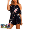 Casual Comfortable Cotton Blended Floral Printed Sleeveless Mini Dress