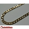 Fashionable 18K Yellow Gold Plated Cuban Twisted Wrench Men's Chain Necklace