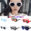 Fancy Oval Grunge Clout Retro Unisex Sunglasses