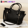 Elegant Women's Criss-Cross Leather Hobo Tote Shoulder Hand Purse