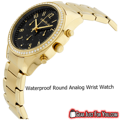 Amazing Waterproof Yellow Color Analog Round Display Quartz Women's Casual Watch - Gear Just For You.com